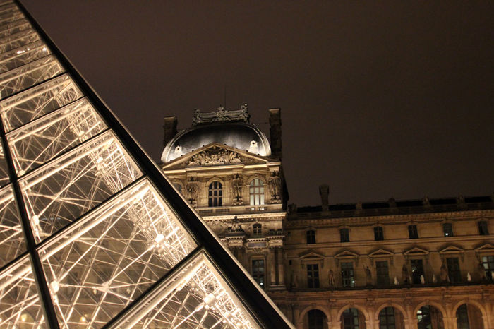 Architecture Architecture_collection Attraction Building Exterior Built Structure City Glass Glass And Steel Illuminated Illuminated Buildings Louvre Low Angle View Modern Architecture Museum Night Nightphotography Palais Du Louvre Pyramid Pyramide Du Louvre Steel Tourist Attraction  Travel Travel Destinations