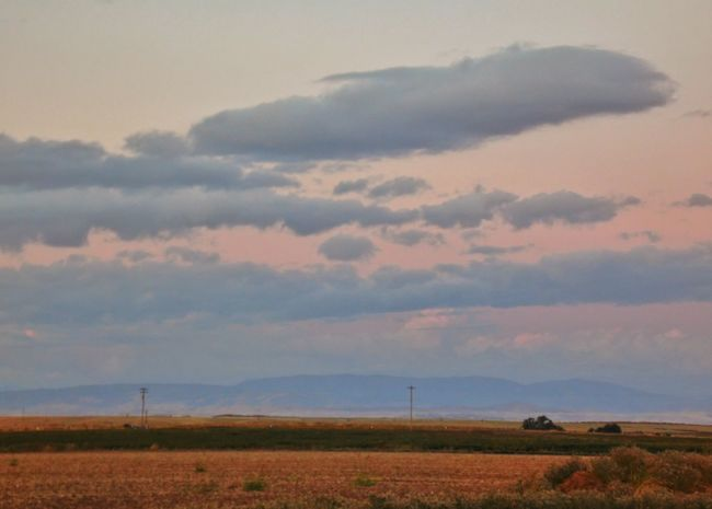 Clouds On Parade Fieldscape Pretty In Pink California Twilight Alpenglow Cotton Candy Sky The Minimals (less Edit Juxt Photography) Rural Scene