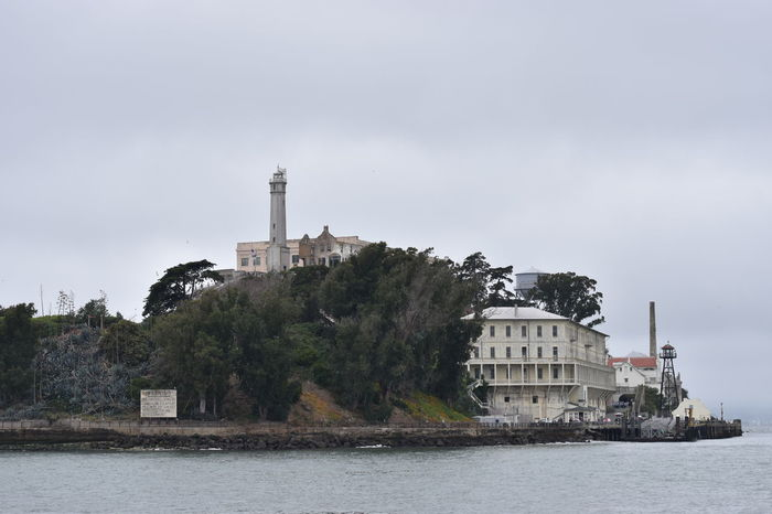 1.8f 50mm 50mm F1.8 Alcatraz Architecture Building Exterior Built Structure California California Dreaming California Love Cloudy Day Historic Historical Building Island Lighthouse Outdoors Overcast Run Down Places San Francisco San Francisco Bay The Rock Waterfront