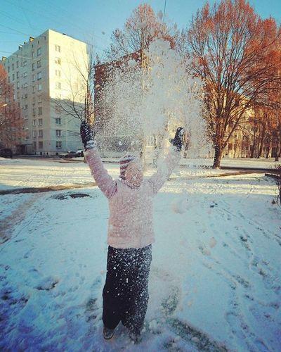 Joys of winter ❄ Winter Joy Outdoor Outdoors Snow Riga Latvija Latvia Things I Like It's Cold Outside Photography In Motion