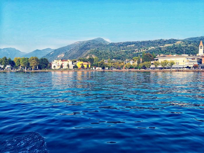 L A G O ❤️ ✌️ Italy Isio Mobile Shots Water Blue Sky Waterfront Boat Lake