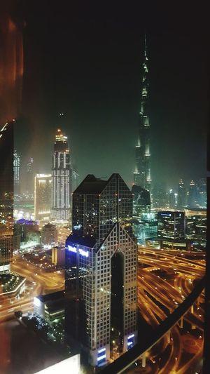 Modern Arabian Nights Dubai Burj Khalifa City Skyscraper Illuminated Night Pokerlife