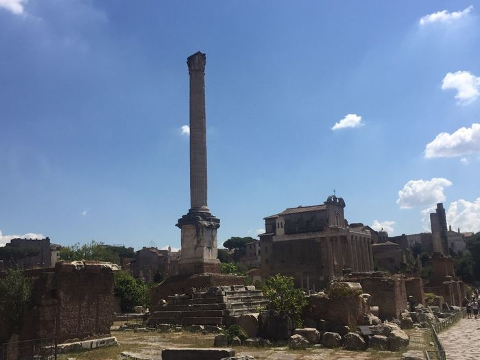 Rome Roma History Old Ruin Ancient Sky Architecture Abandoned Ancient Civilization No People Outdoors Day Damaged Italia Italy Archaeology The Past EternalCity Ancient Travel Destinations
