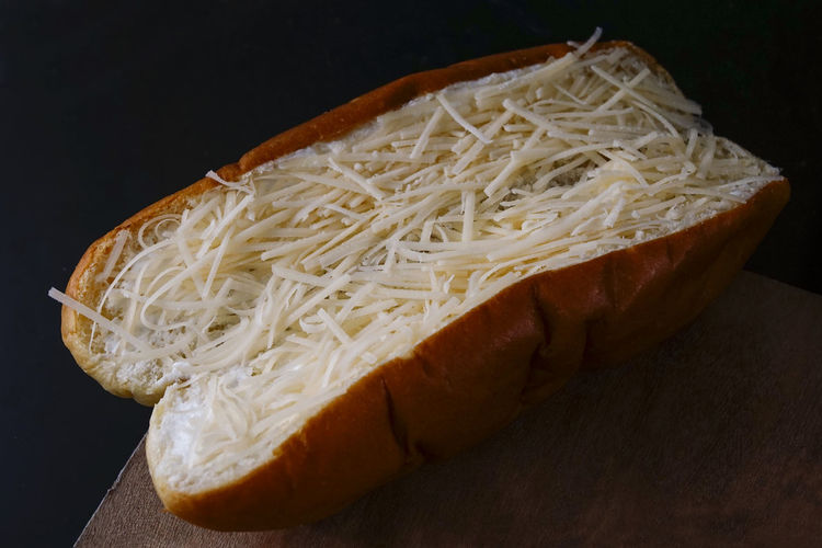 cheese bread Food And Drink Food Freshness Indoors  Bread Black Background Still Life Close-up No People Wellbeing Studio Shot Ready-to-eat Healthy Eating Processed Meat Cheese Dairy Product Meat Table Italian Food Raw Food Hot Dog Vegetarian Food Snack