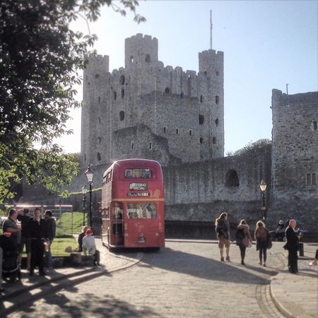 Architecture Building Exterior Men Castle Castles Rochester Rochester Castle Rochestercastle Rochester, Kent Kent Uk Bus London Bus Red Bus