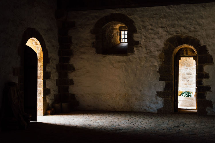 Stone Material Door Doorway Castle Arch Window Architecture Built Structure Historic Fortified Wall Entry Open Door Entryway Ancient Doorknob History Entrance Fort Medieval Past The Past Civilization Fortress
