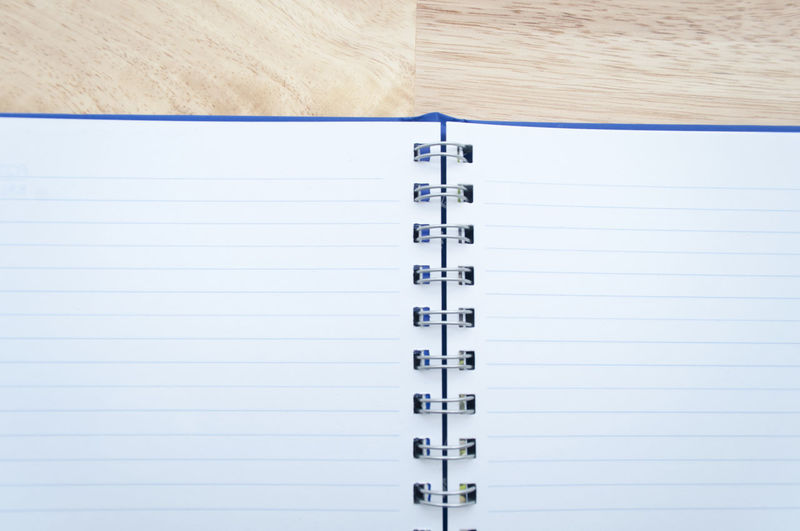 Close-up of a notebook