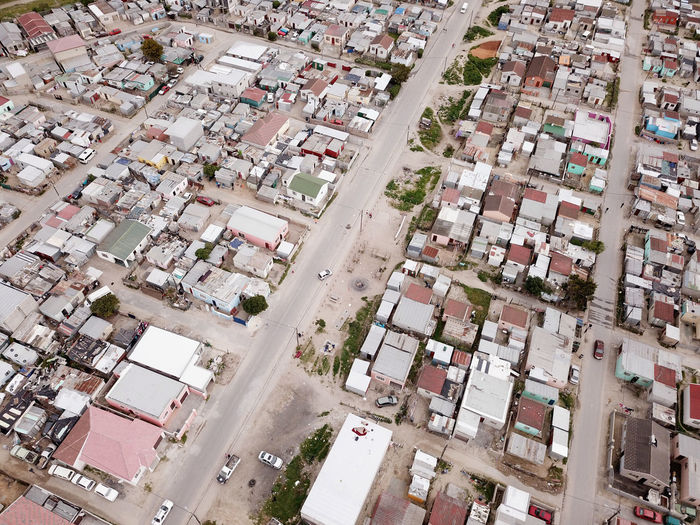 Aerial overhead township in Cape Town, South Africa Cape Town Houses Khayelitsha Poor  Shanty Town South Africa Aerial View Dronephotography Poverty Shack Tin Township