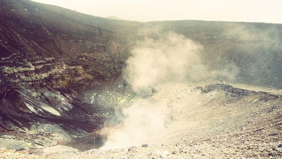 Lokon Mountain Power In Nature Dust Landscape Geyser Hot Spring Steam Emitting Geology Active Volcano Volcano Erupting Volcanic Activity Volcanic Landscape Volcanic Crater Air Pollution Atmospheric Heat Boiling Smoke