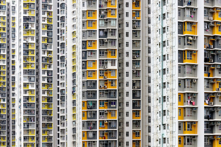 Full frame yellow urban architecture