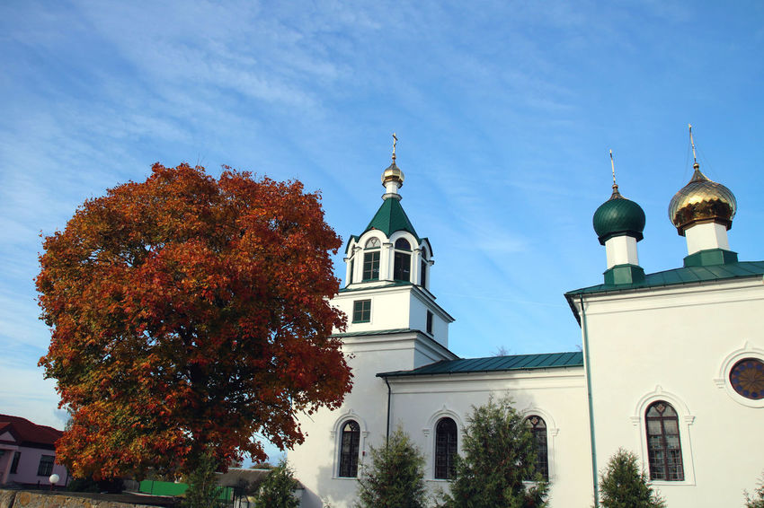 Autumn Autumn Colors Belarus Orthodox Church Architecture Place Of Worship Religion Tree