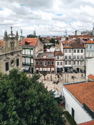 Braga Portugal Architecture Building Building Exterior Built Structure City Cloud - Sky Day Growth High Angle View House Nature No People Outdoors Plant Residential District Roof Roof Tile Sky Town TOWNSCAPE Tree Window