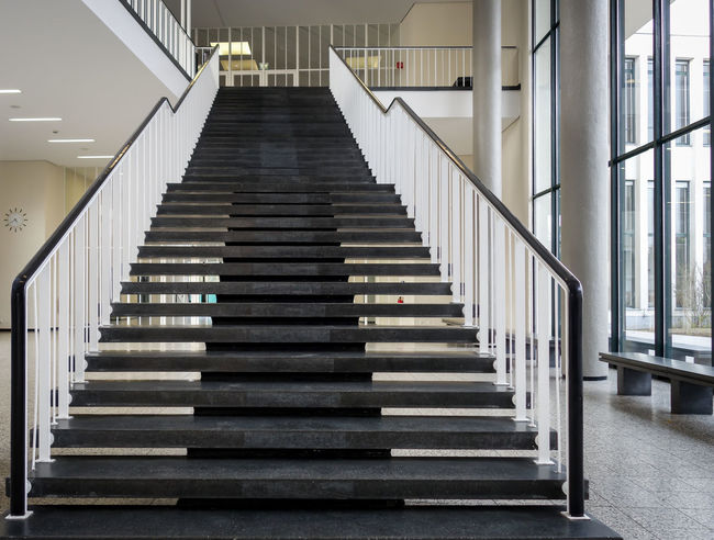 stairway ... Architecture Best Of Stairways Building Built Structure Empty Geländer Low Angle View Modern No People Railing Repetition Staircase Stairs Stairs_collection Stairway Steps Steps And Staircases The Way Forward Treppe Treppenhaus Urban