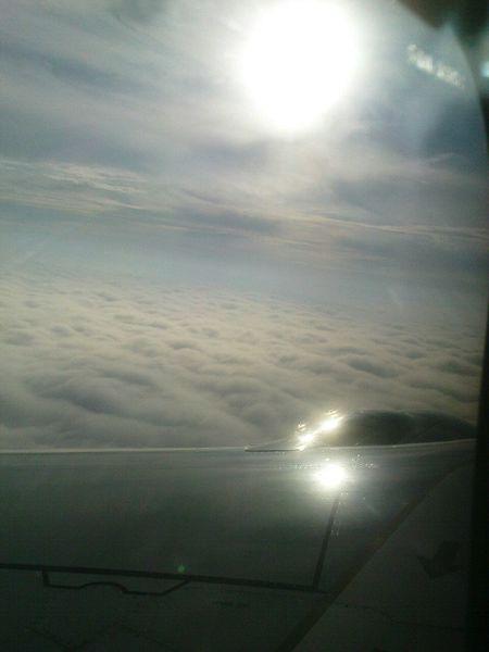 Sunny Day On A Plane Sky