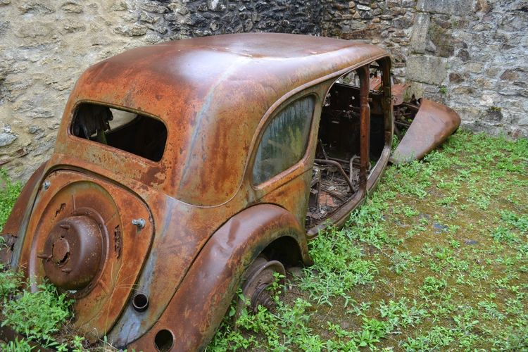 Abandoned France Obsolete Old Oradour Sur Glane Ruined Rusty Village Martyr