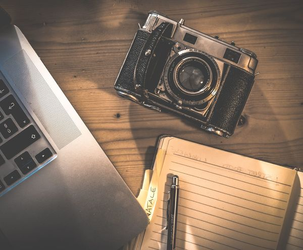 Photography Photo Still Life Studio Shot Passion Close-up #JustMe #travel #Creativity  #Work Writing Relaxing Mood Workflow Table Indoors  High Angle View Wood - Material Desk Camera - Photographic Equipment No People Photography Themes Journalism Day Technology