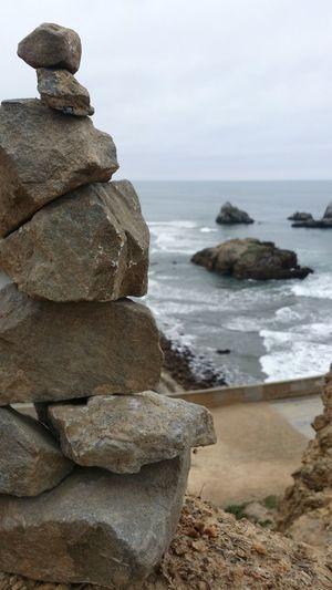 Rockstacking Lands End San Francisco Ocean