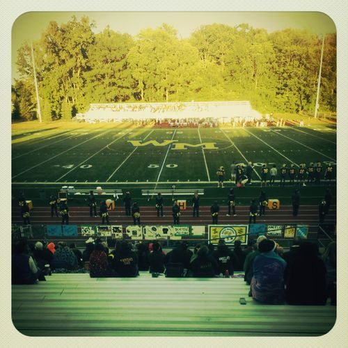 at the football game earlier :)