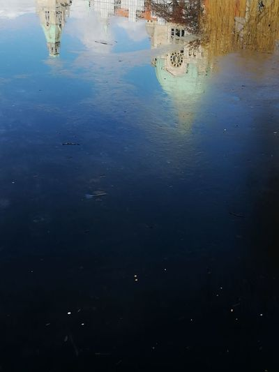 Hannover Water Reflection Nature Lake Environment No People Sunset Outdoors Beauty In Nature Sky Close-up Natural Disaster Day Huawei Huawei p9 Architecture Reflection River City Illuminated Travel Destinations Waterfront Building Exterior Built Structure