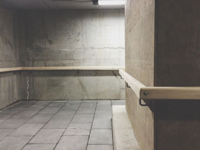 View of empty walkway