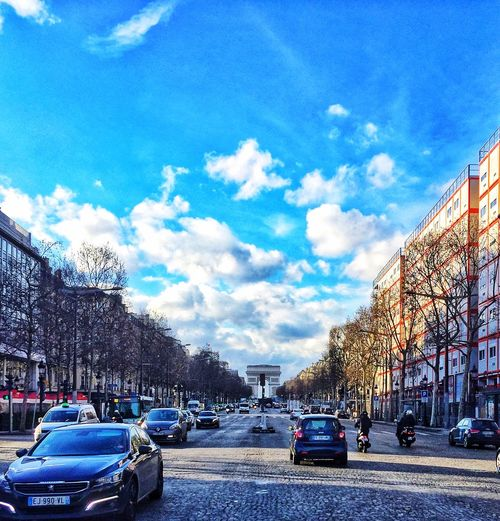 Paris road Car