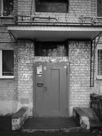 Built Structure Architecture Door Building Exterior Day No People Outdoors Monochrome Black & White Black And White Blackandwhite Residential Building Apartment Architecture