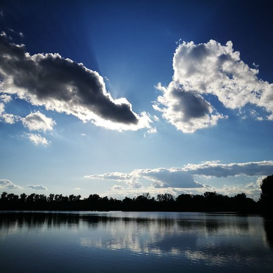 Tisza Lake Water Reflection Cloud - Sky Beauty In Nature Outdoors No People Nature Blue