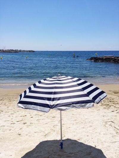 Sea Beach Land Water Sky Horizon Sand Horizon Over Water Umbrella Beach Umbrella No People