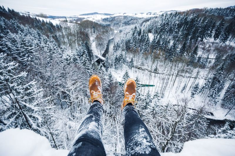 Winter hangouts. Snow Winter Cold Temperature Mountain Adventure Nature Leisure Activity Beauty In Nature Low Section Vacations Outdoors Scenics People Day Only Men Adults Only Human Leg Adult One Person Sky
