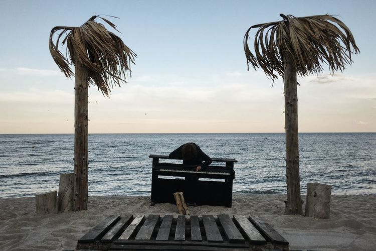 Beach Beauty In Nature Black Sea Black Sea Shore The Secret Spaces Horizon Over Water Nature Odessa Odessa,Ukraine Outdoors Palm Tree Palm Trees Piano Piano Key Piano Keyboard  Piano Keys Piano Lover Piano Time Sea Sky Summer Summertime Sunset Water Art Is Everywhere