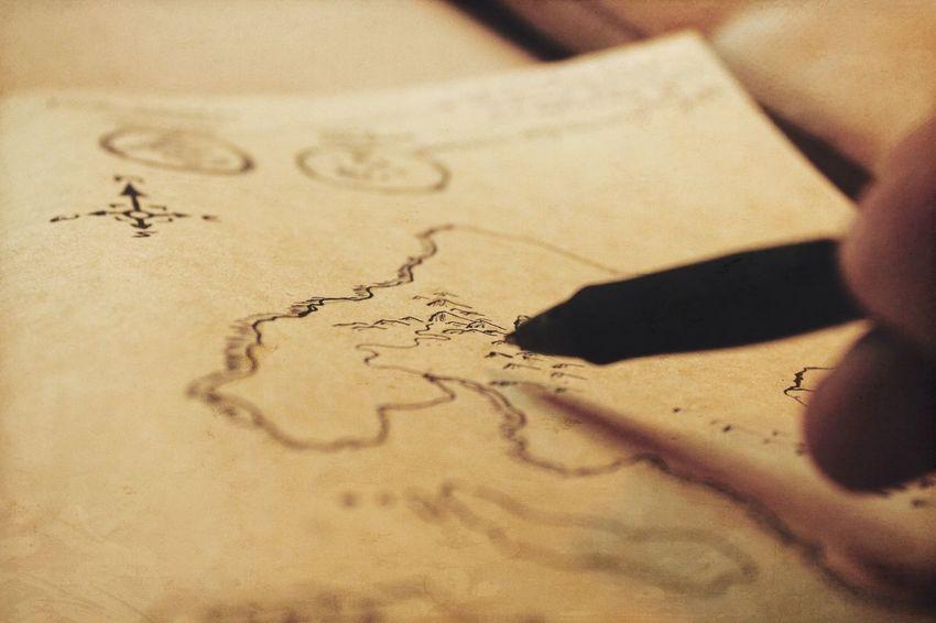 Map Drawing Cartography Storytelling