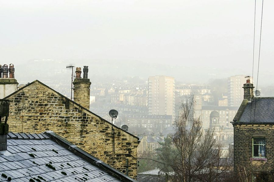 Building Exterior Architecture Built Structure Sky No People Urban Skyline Outdoors Day Finding New Frontiers Traveling Home For The Holidays Chimney Town TOWNSCAPE EyeEm Best Shots Landscape_Collection Calderdale Valley Hills Houses Sowerby Bridge Rooftop View  Roof Architecture House Homes