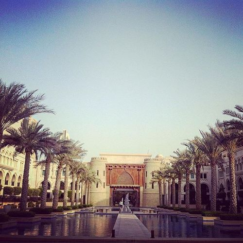 The entrance ThePalace Dubai Hotel Vacation Travel Holidays Palmtrees Hot Travel Photography Photooftheday Wunderlust Photography Jetsetter Scenery Shots Exploring Camera Scenery Shot