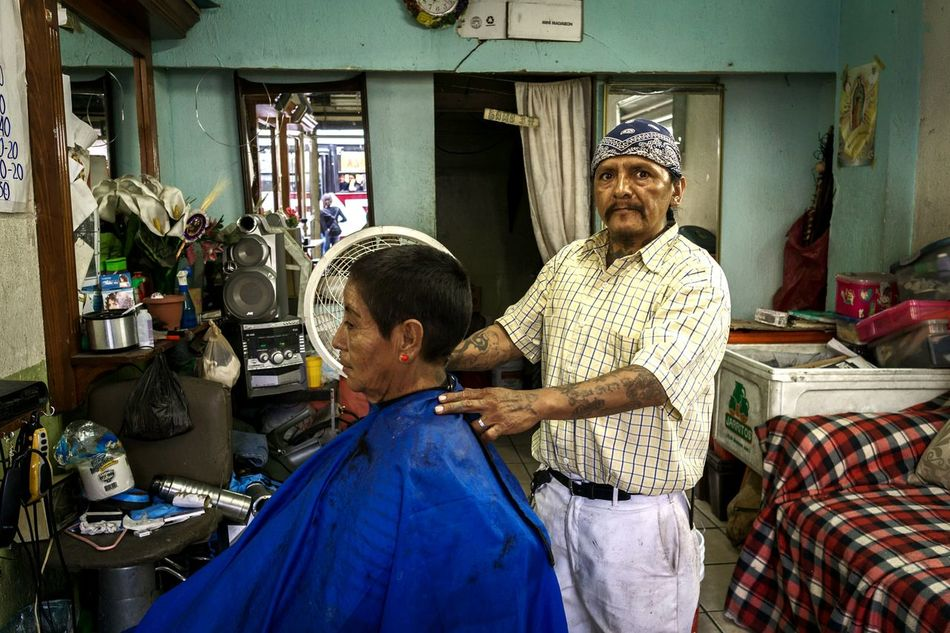 Two People Indoors  Senior Adult Men Lifestyles Real People Occupation Streetphotography City Sky Urban Photography Street Photography Barbershop Sunday PalmSunday Love Late City Mexico Juarez EyeEm Diversity The Portraitist - 2017 EyeEm Awards