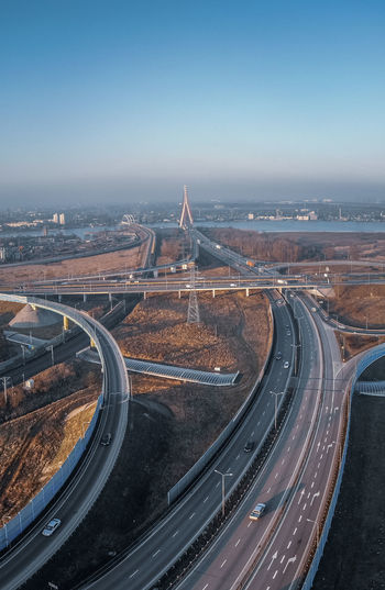 Highway near gdansk from above
