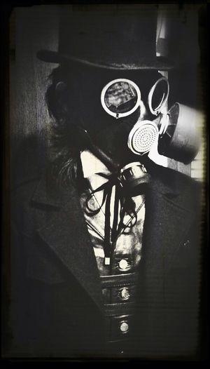 Blackandwhite Selfportrait Mask