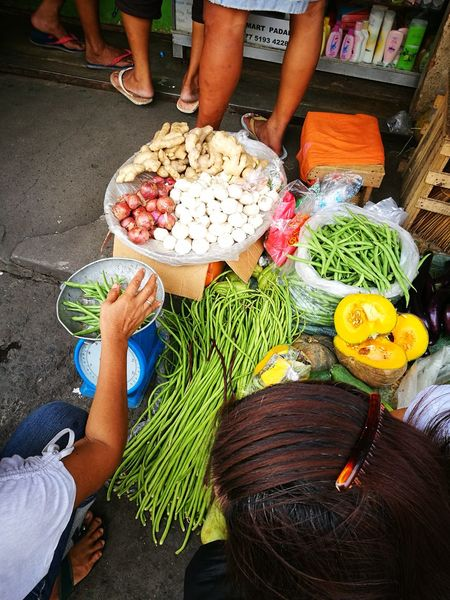 Street Life Low Section Freshness Vegetarianfood Topview Human Body Part