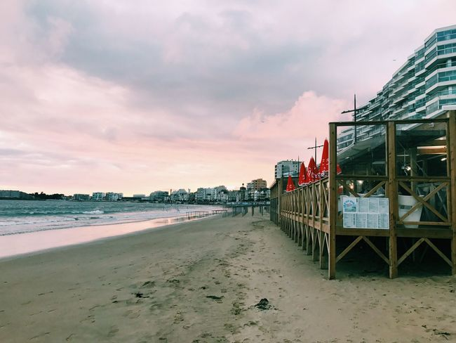 Beach Sea Sunset Sky Cloud - Sky Water Nature Lessablesdolonne Restaurant