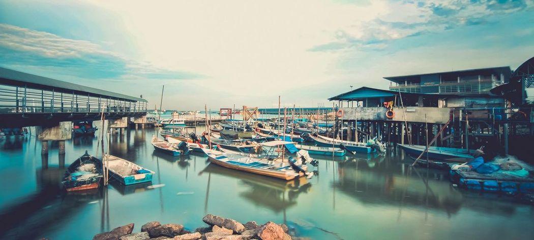 Jetty Portklang Northport Malaysia Canon 70d Tokina 11-16 Mm F/2,8 Photography Panorama Seaside Sunset #sun #clouds #skylovers #sky #nature #beautifulinnature #naturalbeauty #photography #landscape