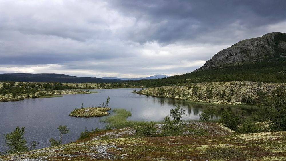 Norway Water Reflections Wilde Lonliest Place Mountain Rondane
