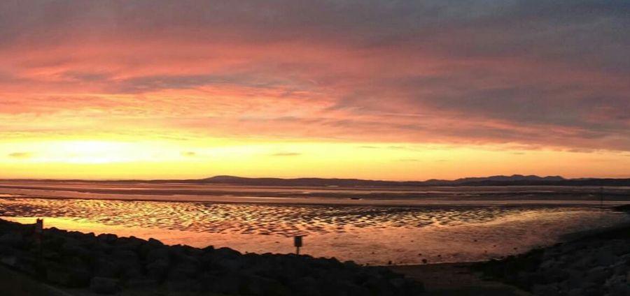 Morecambe U.K. Beautiful Nature Lancashire UK Sunsets Morecambe Bay