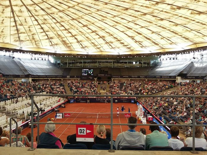 Tennis Match at the German Open. · Hamburg Germany 040 Tennis 🎾 Tennis Court Atp Atp Tennis Qualifiers Indoors  Just Taking Pictures City Life Urban Lifestyle