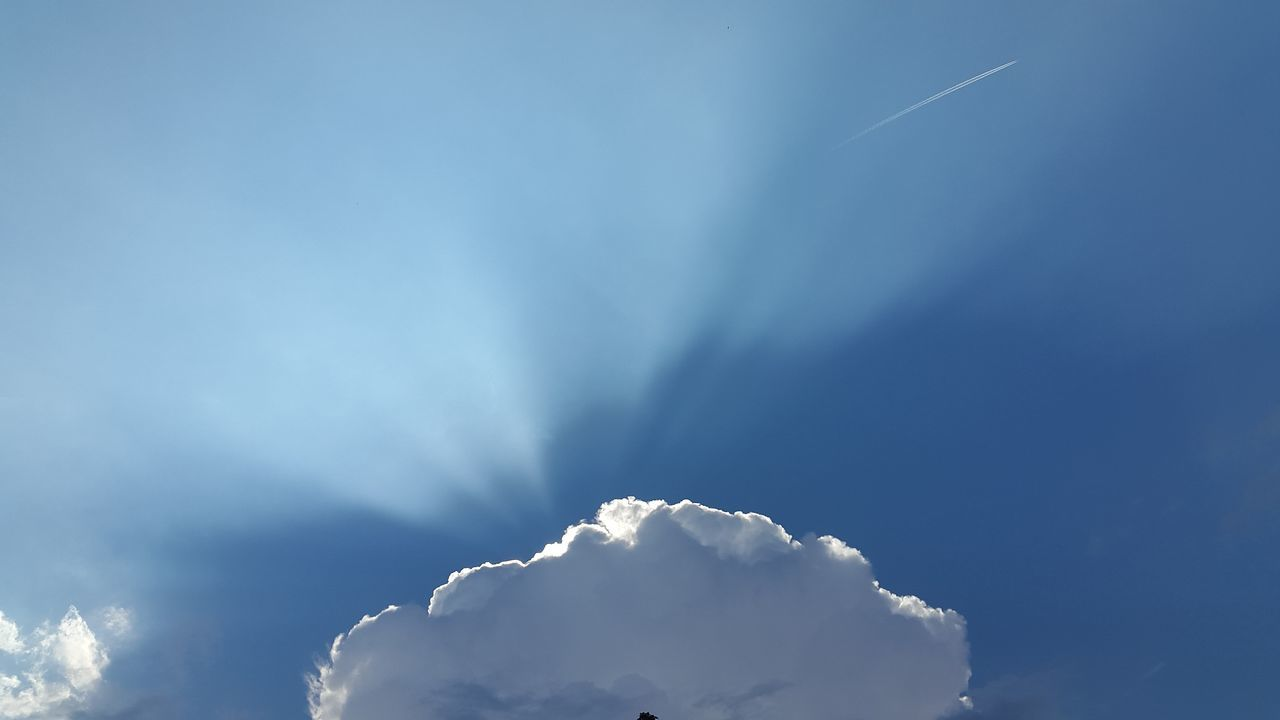 nature, beauty in nature, sky, blue, tranquility, scenics, no people, day, low angle view, sky only, cloud - sky, outdoors