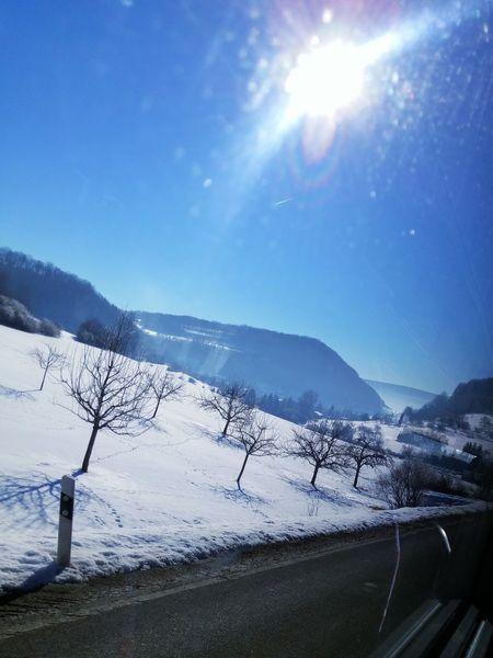 Schwäbischealb Snow ❄ Auendorf Sonniger Wintertag Gruibingen Februar