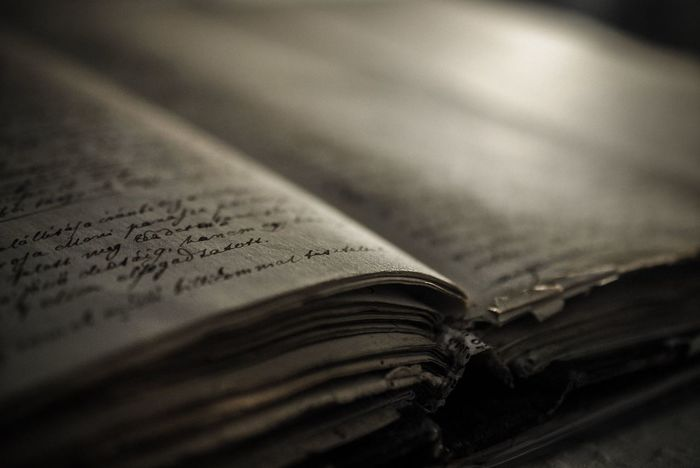 Book Close-up Communication Day Education History Indoors  Knowledge Literature No People Old Book Old Book Of Secrets. Old Book Shop Old Books Open Page Paper Research Selective Focus Text Wisdom This Is Aging