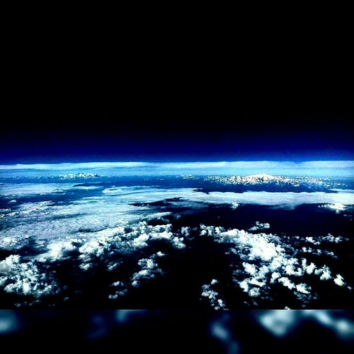 Flight ✈ Above The Clouds Himalayas, India Endless Sky And Clouds Skylovers Flying High Livelifemoments Bluish The Earth