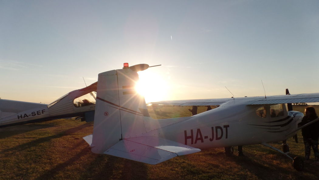 Air Vehicle Airplane Airplane Wing Airport Runway Battle Clear Sky Day Fly Flying History Legendák A Levegőben Lens Flare Nature No People Outdoors Runway Samsung Samsungphotography Sky Summer Sun Sunlight Sunset Transportation