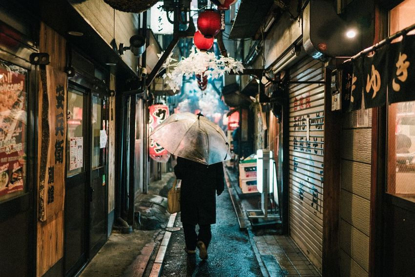 Japan Photography Japan Store Architecture Real People Full Length One Person Adult Illuminated City One Woman Only Adults Only People Day Indoors