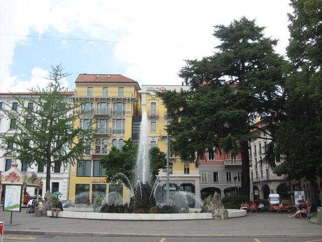 Building City Lake View Lugano, Switzerland Street
