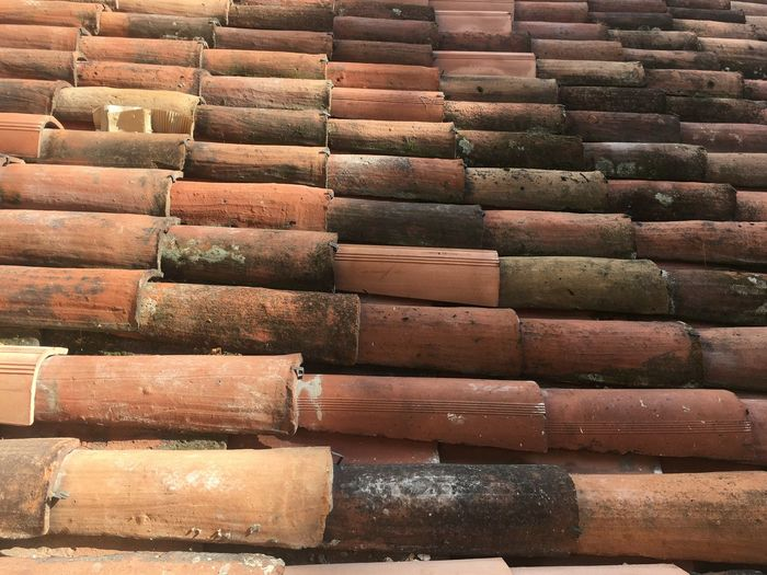 Roof Roof Tile Roof Texture Large Group Of Objects Full Frame Stack Arrangement Backgrounds Repetition No People In A Row Pattern